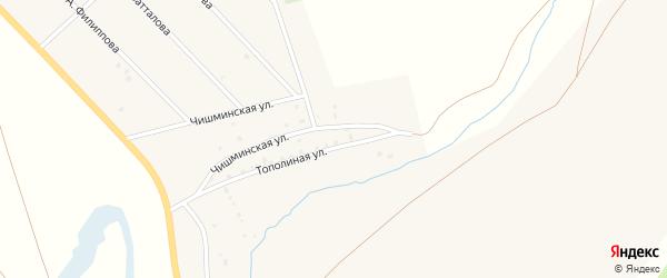 Улица Ф.Азаматова на карте хутора Курта-Елги с номерами домов