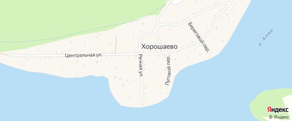 Центральная улица на карте деревни Хорошаево с номерами домов