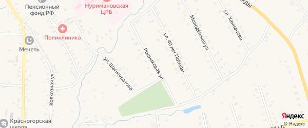 Родниковая улица на карте села Красной Горки с номерами домов