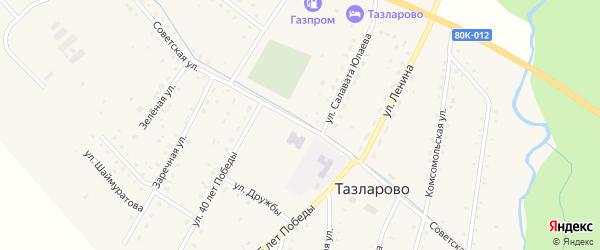 Советская улица на карте села Тазларово с номерами домов