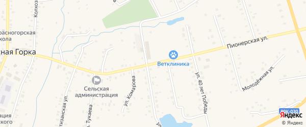 Пионерская улица на карте села Красной Горки с номерами домов