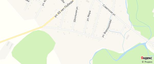 Улица Ворошилова на карте села Тазларово с номерами домов