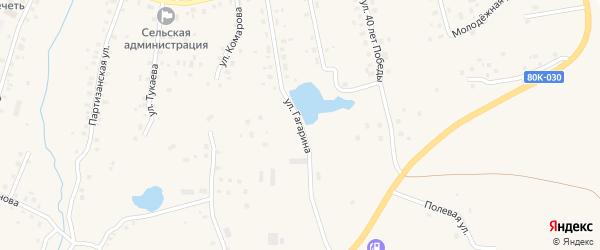 Улица Гагарина на карте села Красной Горки с номерами домов