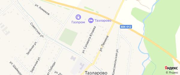 Улица Салавата Юлаева на карте села Тазларово с номерами домов