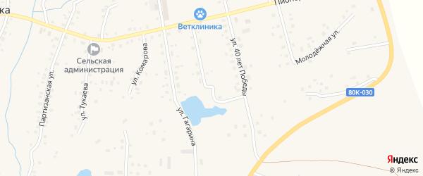 Улица Терешковой на карте села Красной Горки с номерами домов