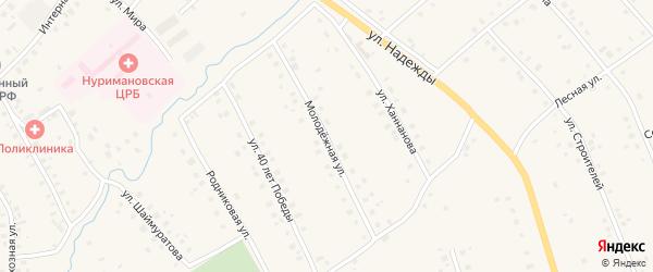 Молодежная улица на карте села Красной Горки с номерами домов