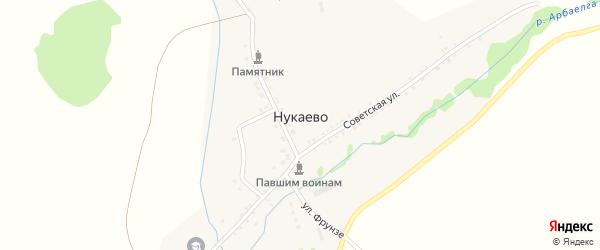 Советская улица на карте села Нукаево с номерами домов