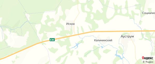 Карта Уктеевского сельсовета республики Башкортостан с районами, улицами и номерами домов