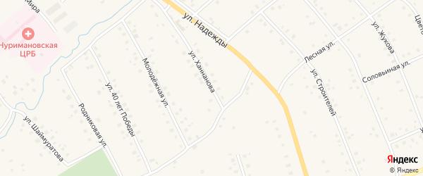 Улица Ханнанова на карте села Красной Горки с номерами домов
