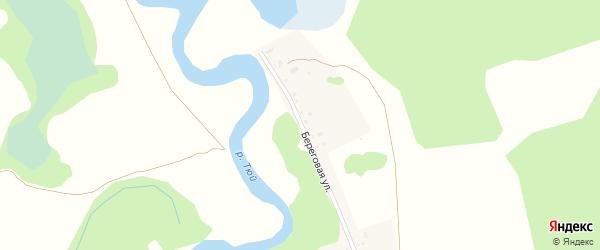 Береговая улица на карте деревни Авадая с номерами домов