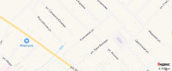 Ключевая улица на карте села Красной Горки с номерами домов