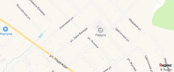 Улица Аскина на карте села Красной Горки с номерами домов