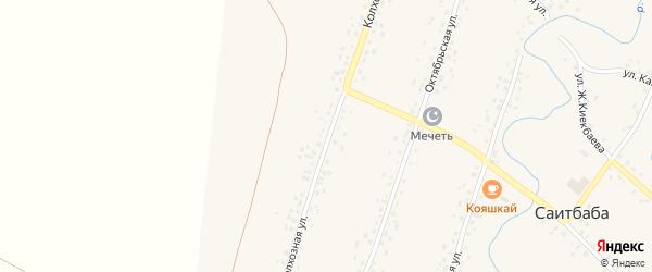 Колхозная улица на карте села Саитбабы с номерами домов