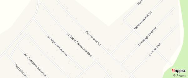 Восточная улица на карте села Красной Горки с номерами домов