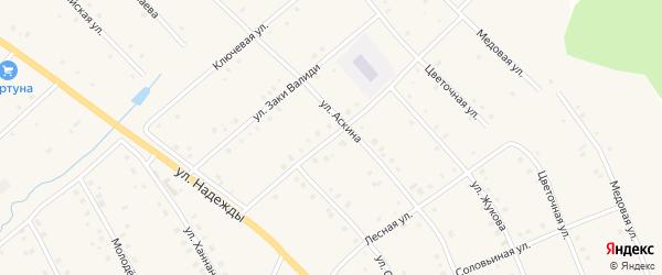 Улица Гайнана Хайри на карте села Красной Горки с номерами домов