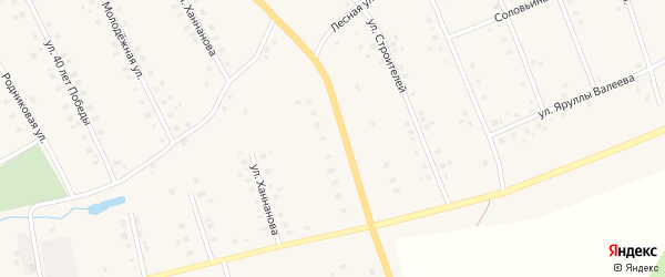 Улица Надежды на карте села Красной Горки с номерами домов