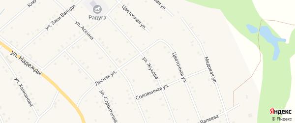 Улица Жукова на карте села Красной Горки с номерами домов