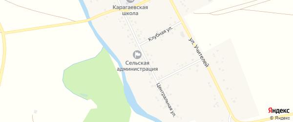 Центральная улица на карте села Карагаево с номерами домов