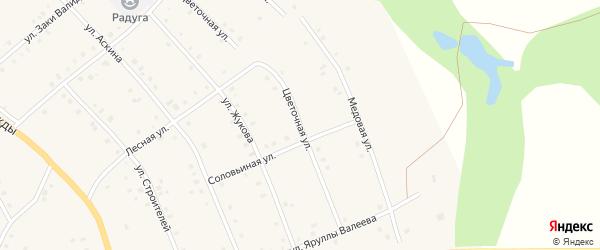 Цветочная улица на карте села Красной Горки с номерами домов