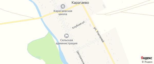 Молодежная улица на карте села Карагаево с номерами домов