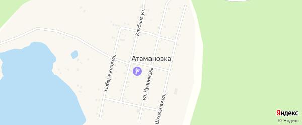 Клубная улица на карте села Атамановки с номерами домов