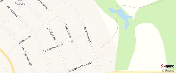Медовая улица на карте села Красной Горки с номерами домов