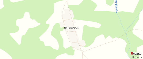 Карта деревни Ленинского в Башкортостане с улицами и номерами домов