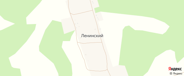 Садовая улица на карте деревни Ленинского с номерами домов