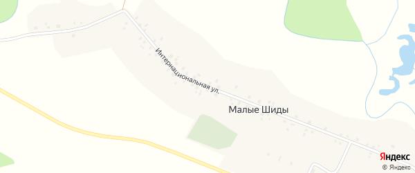 Интернациональная улица на карте деревни Малые Шиды с номерами домов