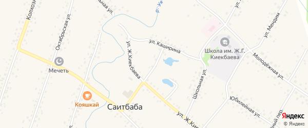 Переулок Каширина на карте села Саитбабы с номерами домов