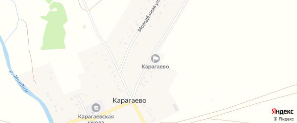 Улица Учителей на карте села Карагаево с номерами домов
