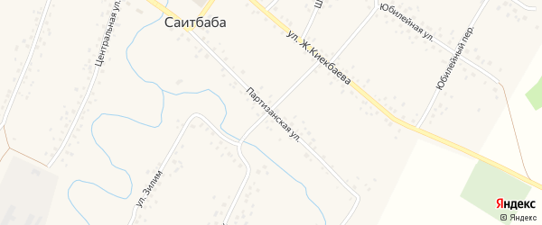 Партизанская улица на карте села Саитбабы с номерами домов