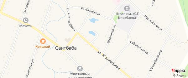 Переулок Ж.Киекбаева на карте села Саитбабы с номерами домов