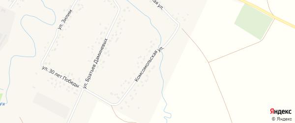 Комсомольская улица на карте села Саитбабы с номерами домов