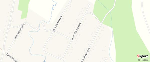 Улица К.Сагадиева на карте села Саитбабы с номерами домов