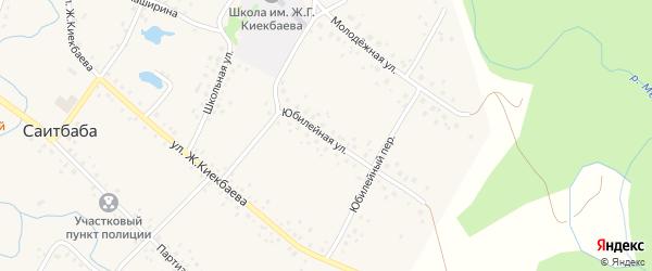 Юбилейная улица на карте села Саитбабы с номерами домов