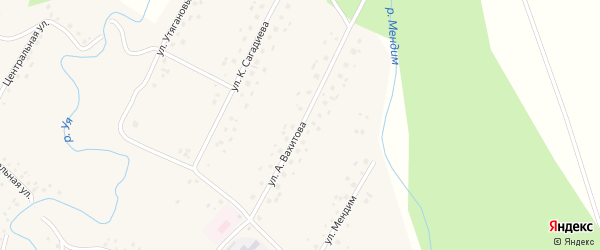 Улица А.Вахитова на карте села Саитбабы с номерами домов