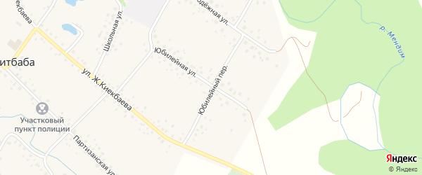 Юбилейный переулок на карте села Саитбабы с номерами домов