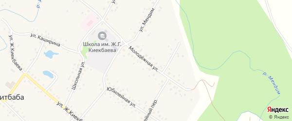Молодежная улица на карте села Саитбабы с номерами домов