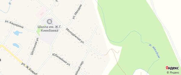 Молодежный переулок на карте села Саитбабы с номерами домов