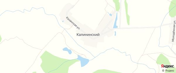 Карта деревни Калининского в Башкортостане с улицами и номерами домов