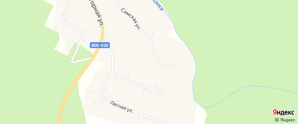 Шараварская улица на карте деревни Чандара с номерами домов