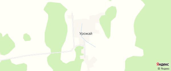 Карта деревни Урожая в Башкортостане с улицами и номерами домов