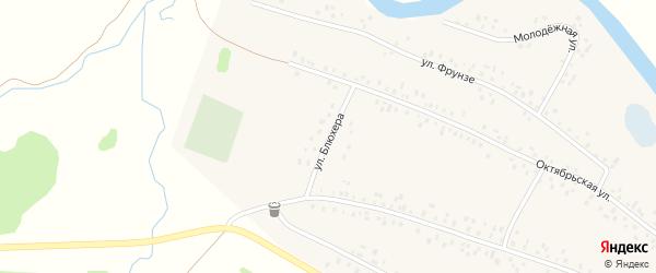 Улица Блюхера на карте села Кубиязы с номерами домов