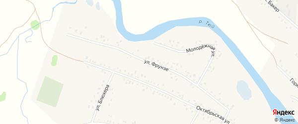 Улица Фрунзе на карте села Кубиязы с номерами домов