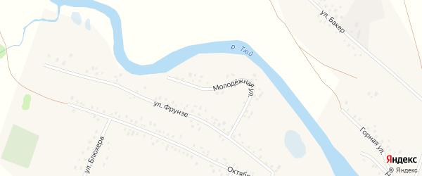 Молодежная улица на карте села Кубиязы с номерами домов