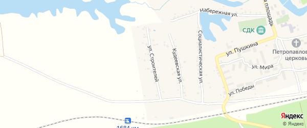 Улица Строителей на карте села Кудеевского с номерами домов