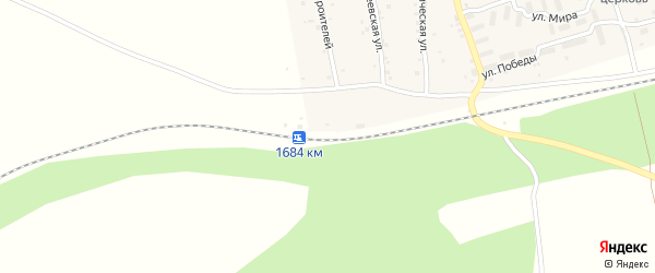 Разъезд 1684 км на карте села Кудеевского с номерами домов