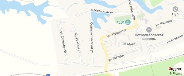Социалистическая улица на карте села Кудеевского с номерами домов