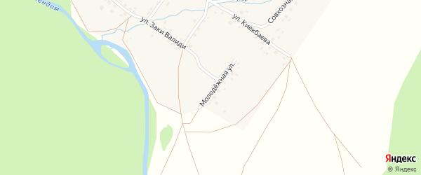 Молодежная улица на карте деревни Карана-Елги с номерами домов